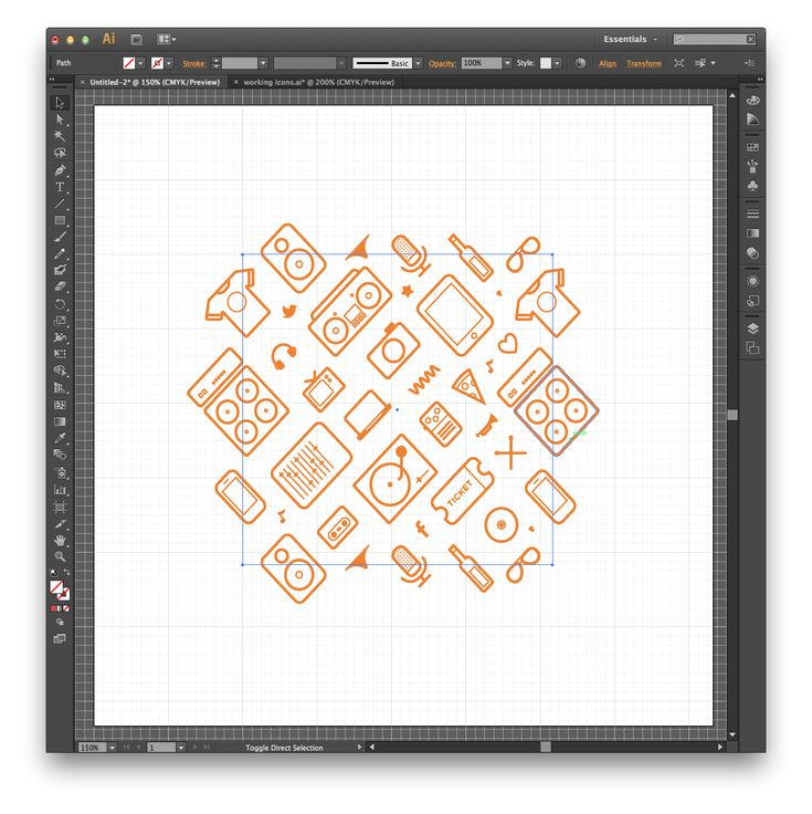 How to make repeatable patterns in Illustrator