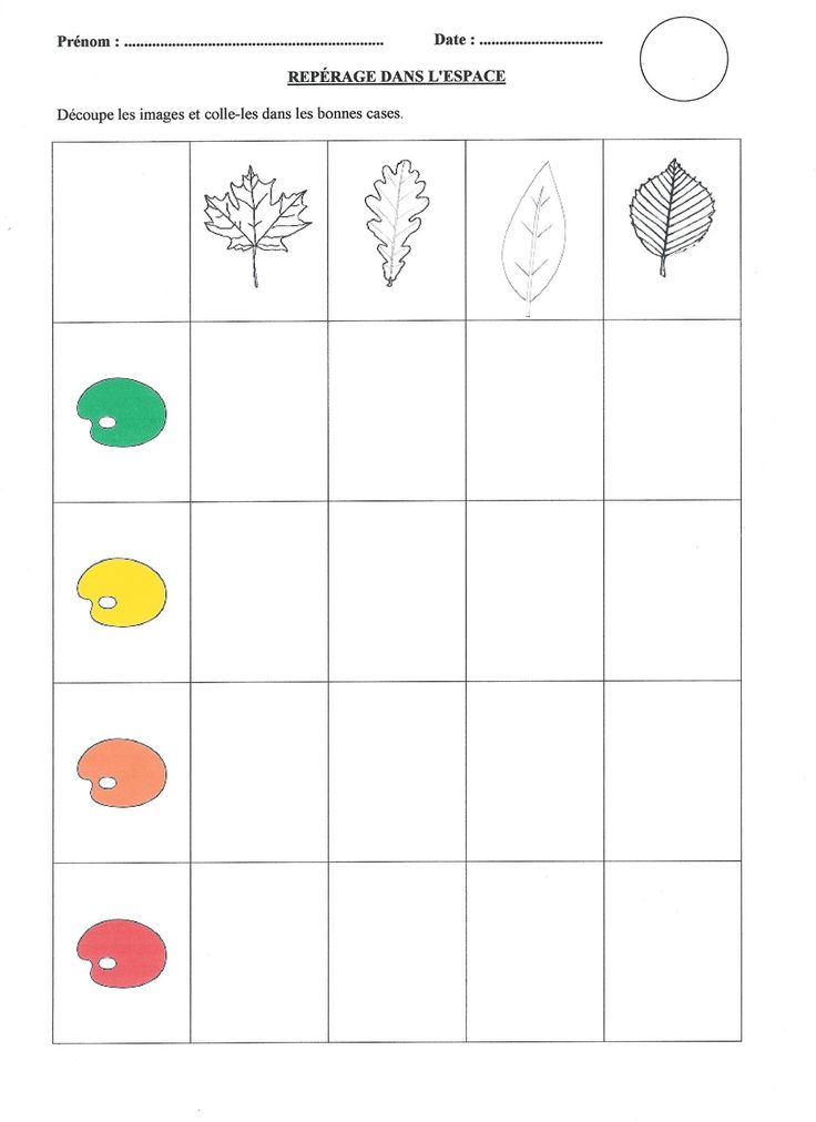 Tableau à double entrée - L'automne 1