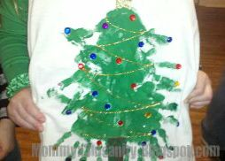 Christmas tree t-shirts for the kids to make