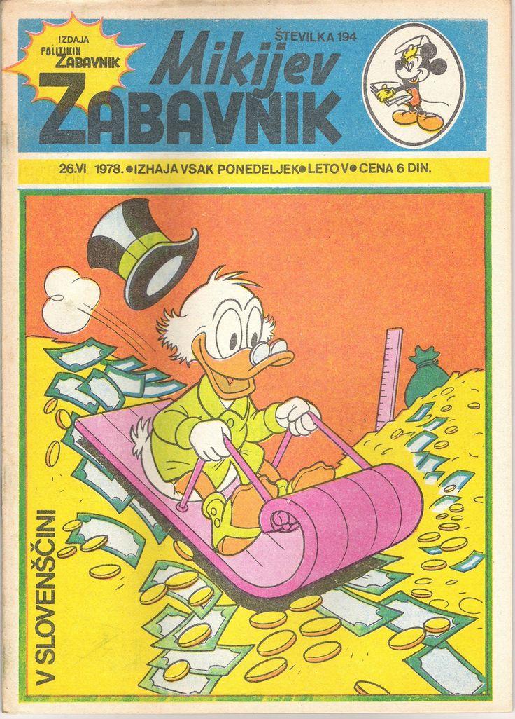 Yugoslavia - Mikijev Zabavnik (Slovenian)  Scanned image of comic book (© Disney) cover
