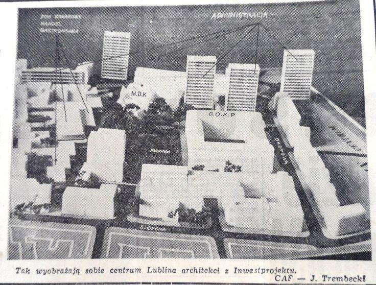 "Projekt Inwestprojekt Źródło: ""Kurier Lubelski"", 1968 nr 78."