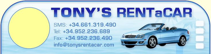 TONY'S Rent a Car - Holiday Car Rental at Malaga Airport Spain