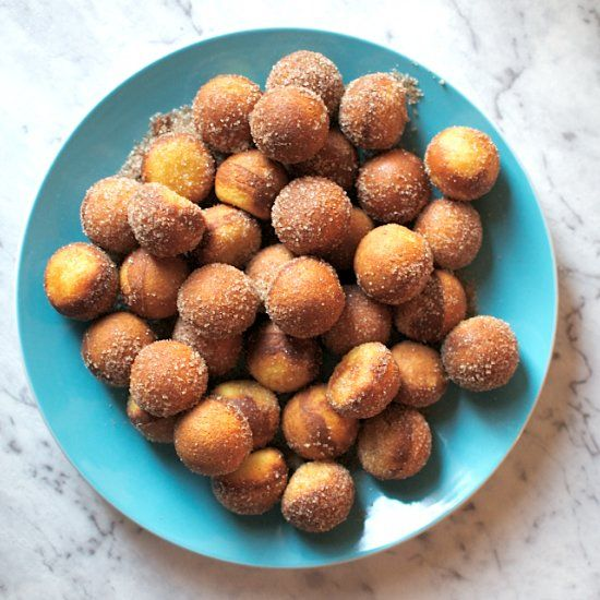 These easy Nutella filled donut holes are made with just four ingredients in a cake pop maker. You're welcome.