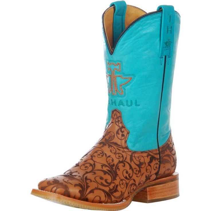 "TIN HAUL FOOTWEAR - Tin Haul Embossed Scroll 11"" Top Cowgirl Boot - NRSworld.com"