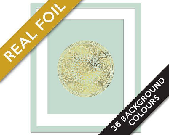 Mandala 2 Art Print - Gold Foil Print - Buddhist Art - Gold Foil Mandala - Hindu Art Print - Meditation Art - Yoga Art - Namaste - Zen Art