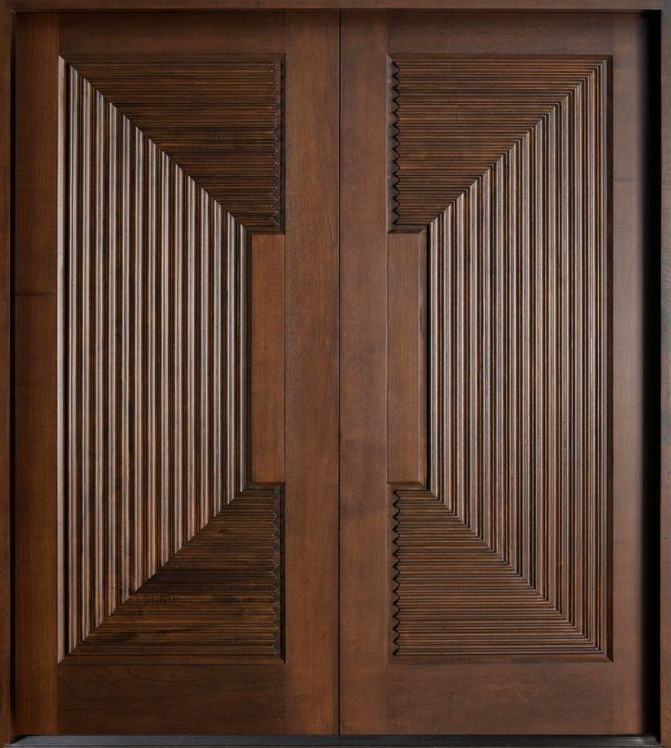 Exterior Inspiration Picturesque Espresso Wooden Double Modern Front Door With…