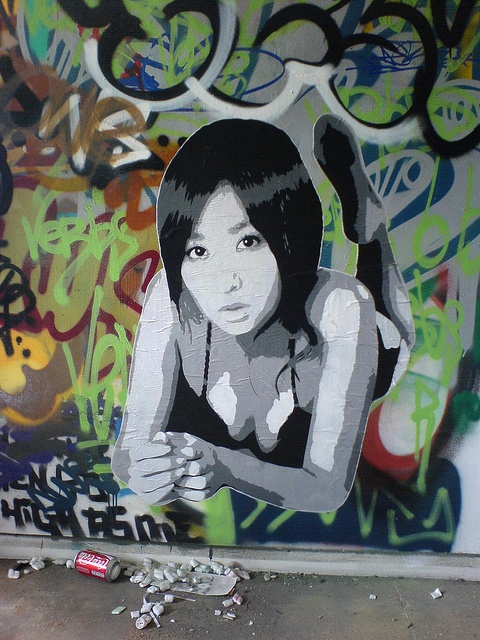 #streetart #zhe155 stencil, via Flickr.