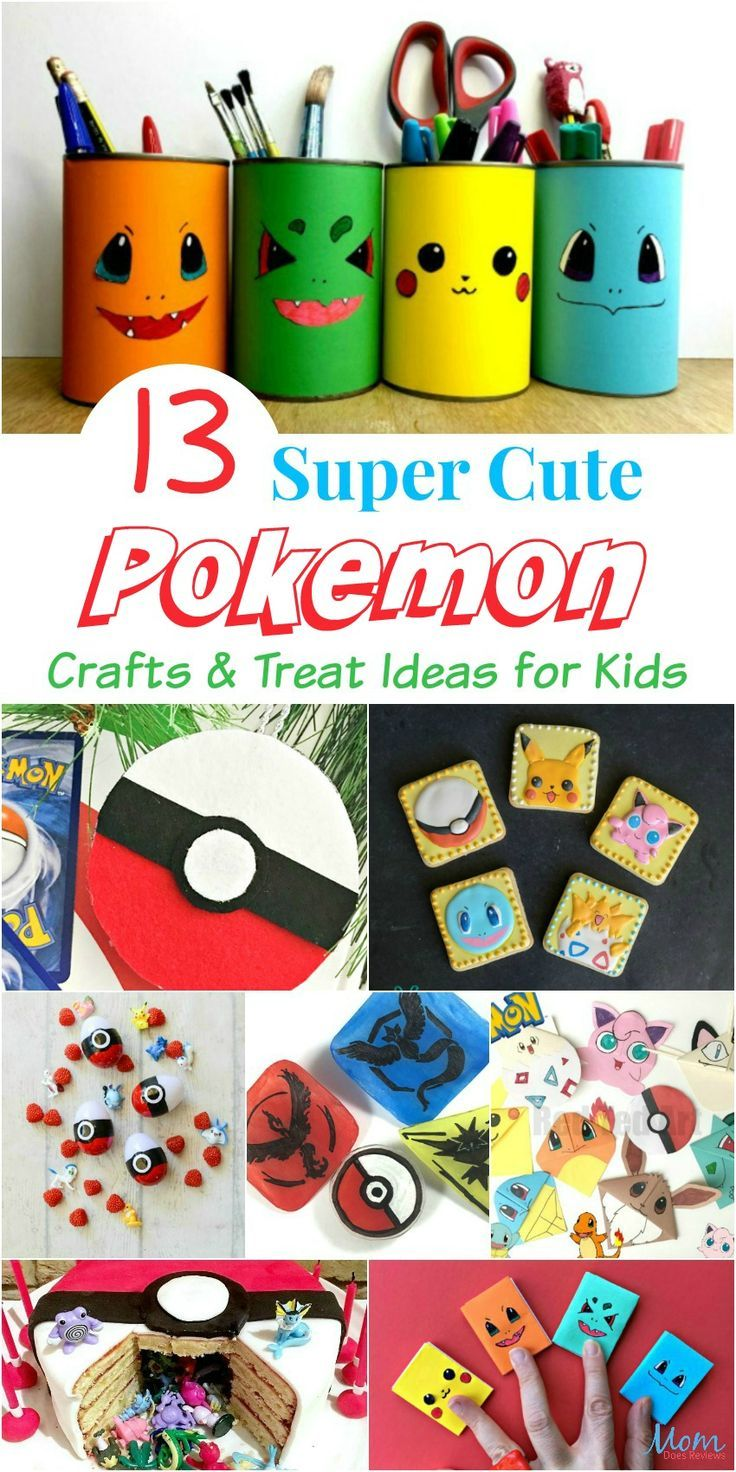 13 Super Cute Pokemon Crafts & Treat Ideas for Kids