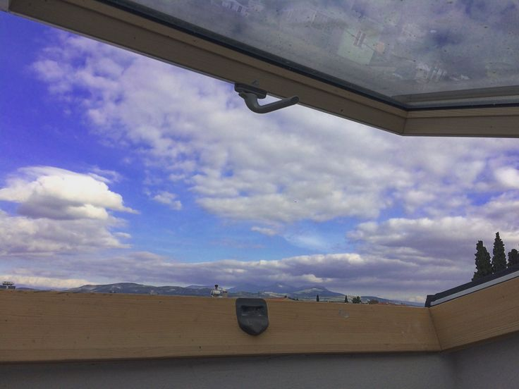 #wimdow #clouds #attic #roto #mparolas #aluminium  www.alouminia-koufomata.gr