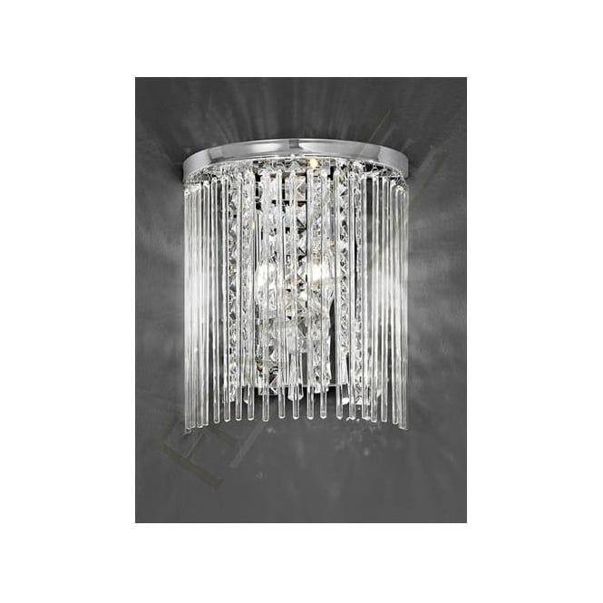 FL2310/2 Charisma 2 Light Crystal Wall Light Polished Chrome
