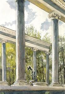 Peterhof Palace. Lion cascade and colonnade - Alexandre Benois