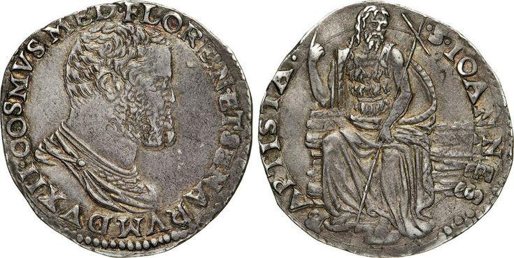 NumisBids: Numismatica Varesi s.a.s. Auction 65, Lot 319 : FIRENZE - COSIMO I DE' MEDICI (1537-1574) Testone s.d. D/ Busto...