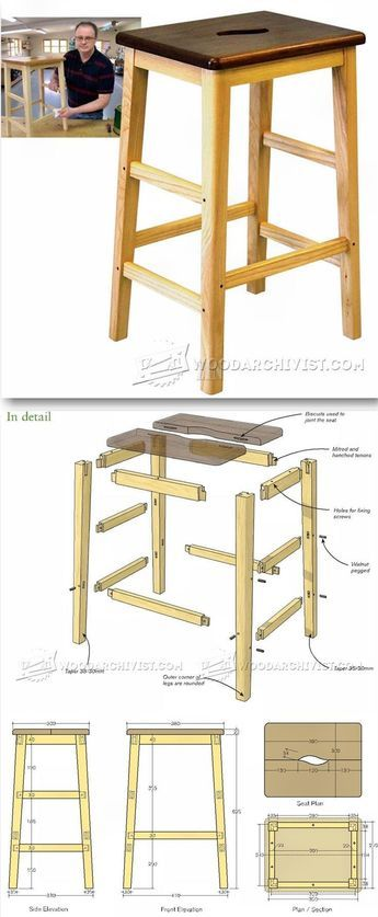 Bench Stool Plans - Furniture Plans and Projects | WoodArchivist.com