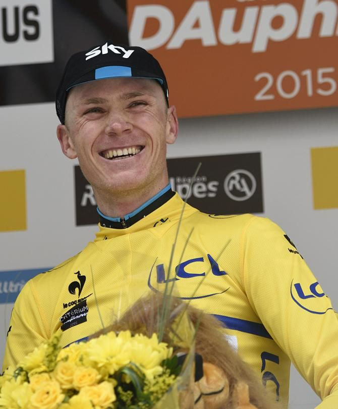 Chris Froome (Team Sky) secures the overall title at the Criterium du Dauphine 2015 (Getty Images Sport)