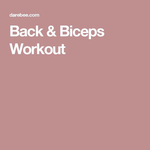 Back & Biceps Workout