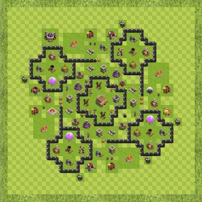 War Base Town Hall Level 8 By Hufflet (Outposts TH 8 Layout)