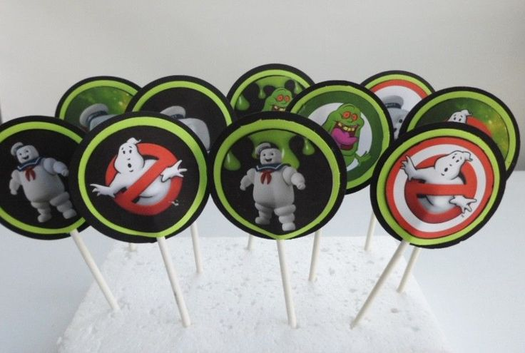 Ghostbusters Cupcake Toppers. Cake decor, party supplies SET OF 12 #BIRTHDAYPARTY