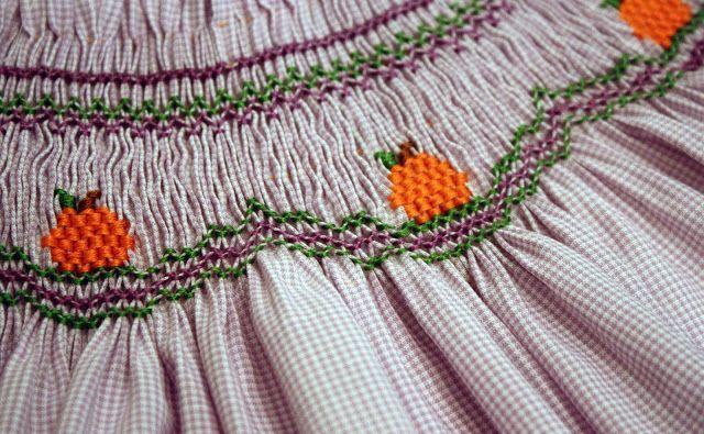 Free Little Smocked Pumpkins Smocking Design - Creations By Michie` Blog