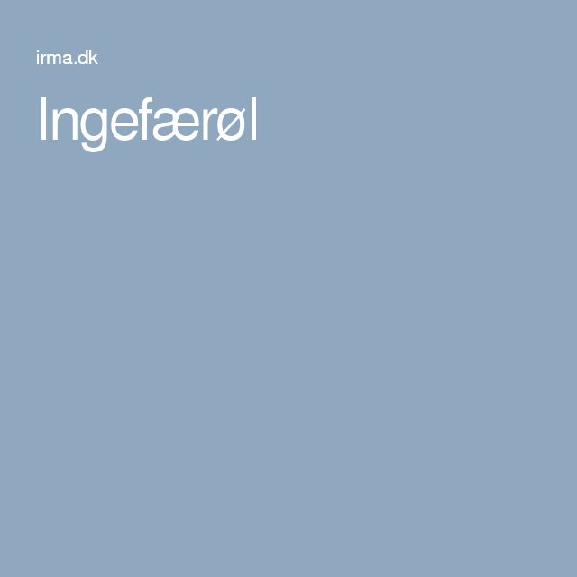 Ingefærøl
