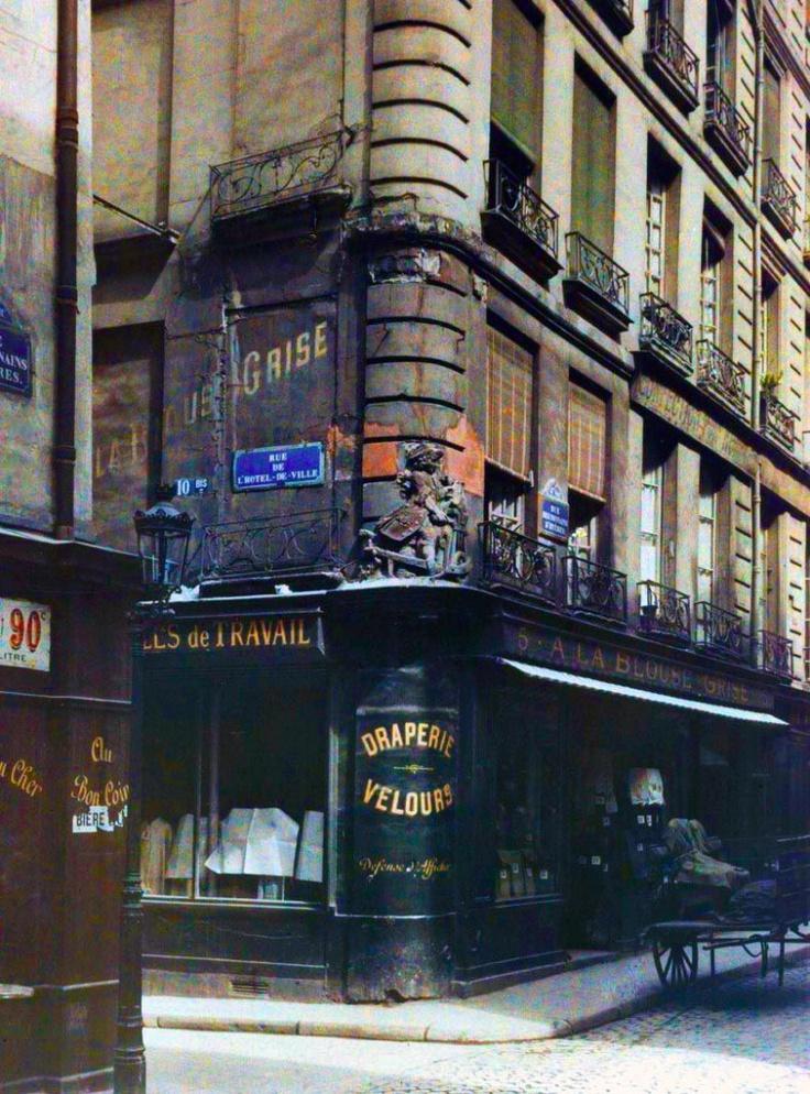 Rue de l'Hôtel de Ville vers 1910