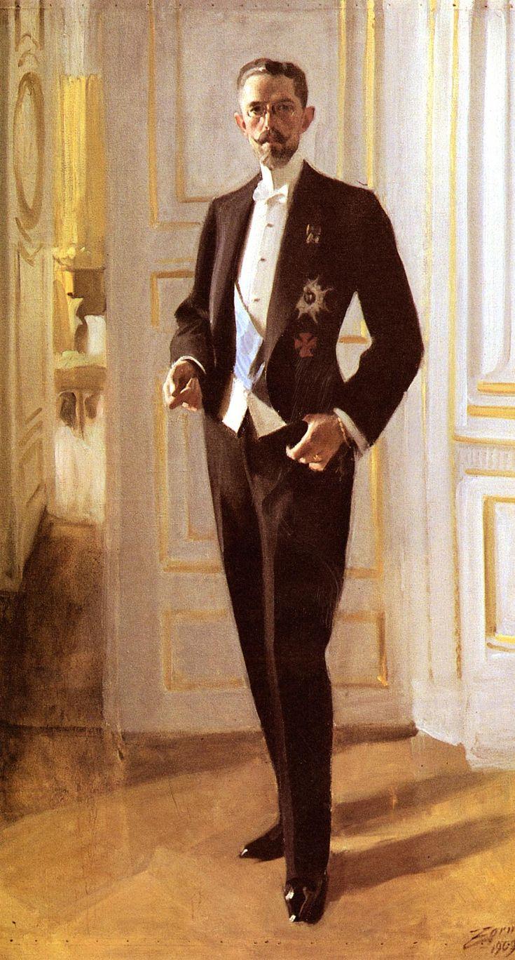 Gustaf V - king of Sweden (1907-1950) | Artist: Anders Zorn
