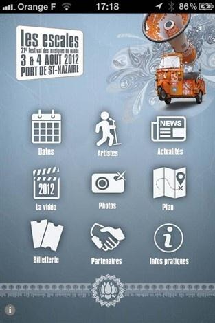 Deux applis mobiles pour suivre le Festival Les Escales - Saint-Nazaire (Application du Festival réalisée par www.imagescreations.fr)