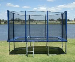 8FT X 12FT Trampoline with Enclosure & Ladder