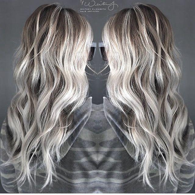Icy blonde balayage Pinterest// rocheleeee