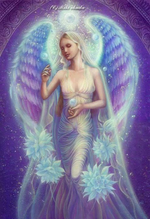 """Archangel Haniel is an angel of healing. Her name means """"The Joy of God""""."""