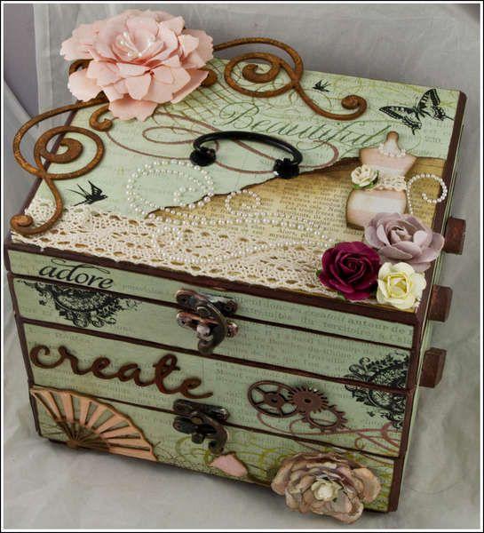 Other altered box cigar box crafts pinterest box for Cardboard cigar box crafts