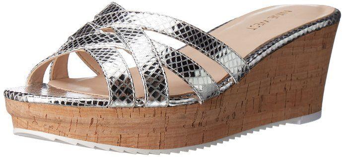 Nine West Women's Caserta Metallic Wedge Sandal