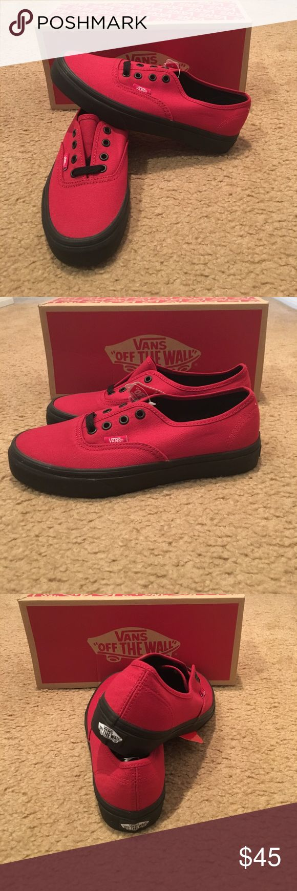 Black Sole Authentic Vans New in box. Jester Red Vans Shoes Sneakers