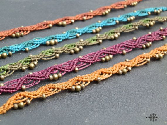 Comment faire un bracelet de cheville en laine