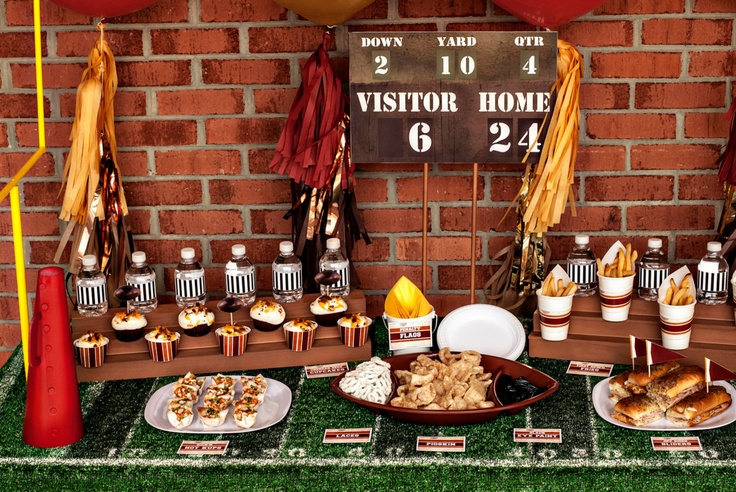 football bleacher cupcake stand party decorations by hellomysweet kids party ideas pinterest football cupcake and parties - Football Decorations