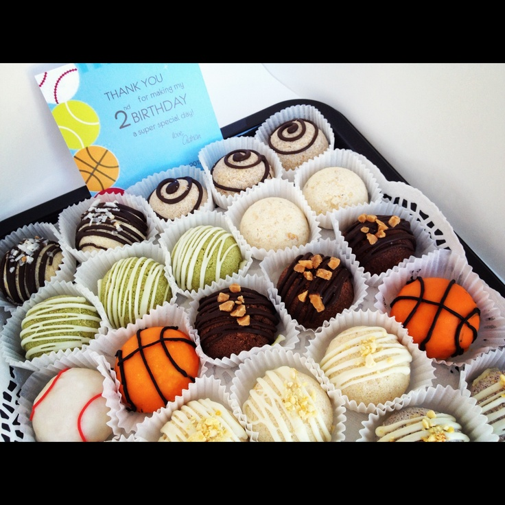 35pcs Party Platter of Assorted (Espresso, Green tea, Jackfruit and many more flavours) Polvoron (shortbread) Cookies shaped as basketballs and baseballs - $25.00 Visit www.lainenlola.com