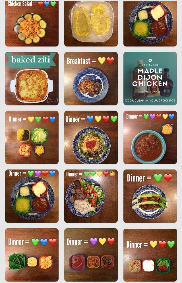 Tons of meals for 21 day fix 21 day fix meals for Comida saludable para toda la semana