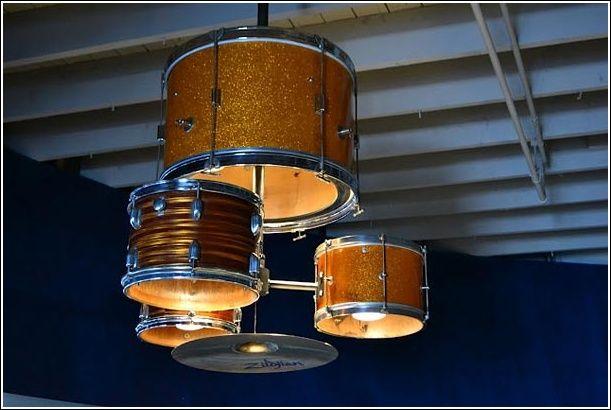 13 Brillante DIY-Ideen, Schlagzeug als Kronleuchter schlagzeug kronleuchter ideen brillante