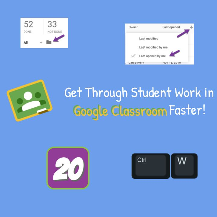 Google Classroom: Assess Student Work FASTER [infographic] - Teacher Tech