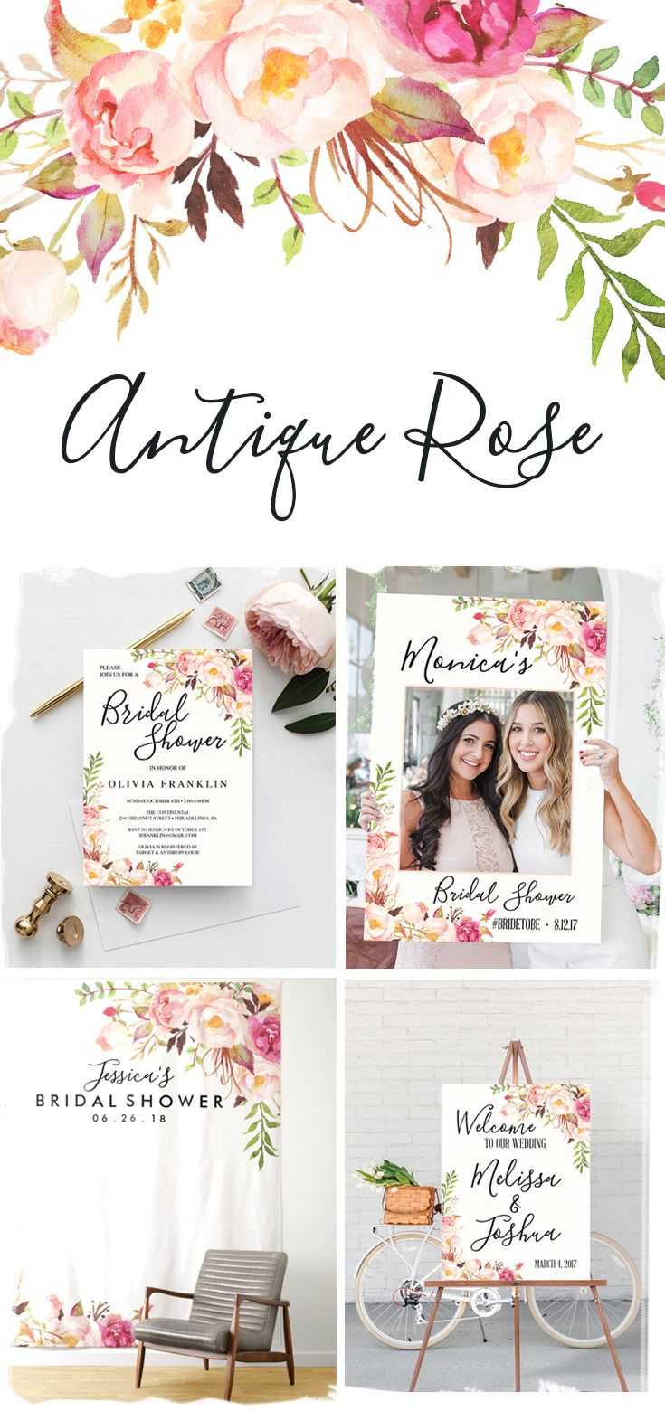 antique rose bridal shower bridal shower brunch bridal shower rh pinterest com