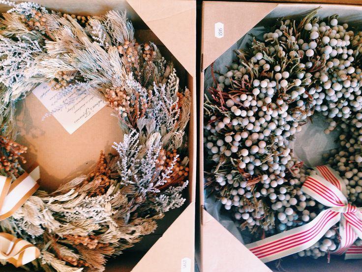 South African fynbos wreaths