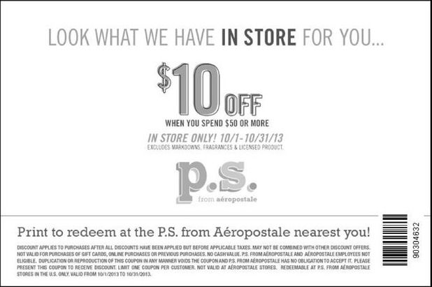 aeropostale ps coupons