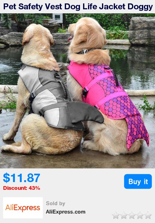 Pet Safety Vest Dog Life Jacket Doggy Puppy Safety Clothes Saver Shark Mermaid Swimming Preserver Swimwear Clothing Size S/M/L  * Pub Date: 19:43 Oct 20 2017