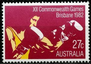 Sello: Boxing (Australia) (Commonwealth Games, Brisbane) Mi:AU 805A,Sn:AU 843,Yt:AU 790,Sg:AU 859