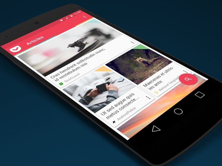 Signa Android UI Design Community — A Pocket redesign concept by Francesco Puppo