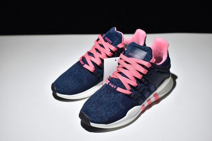 Adidas Equipment Support ADV Primeknit pink bule BB1307 Womens Running Shoes