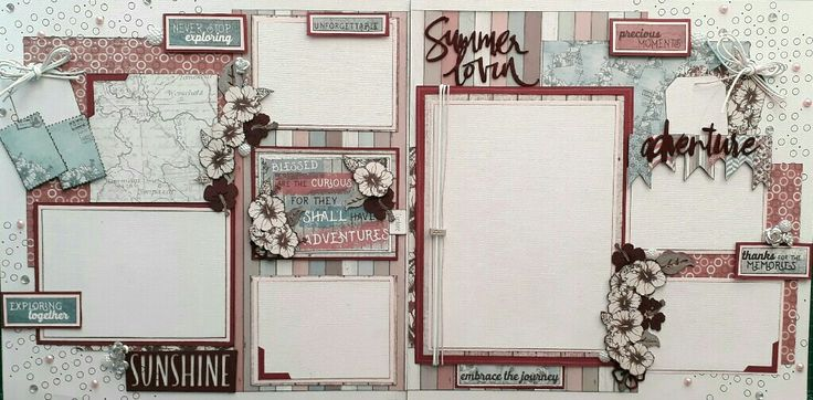 Scrapbook kit I'd done, created by Shain de Bruyn. Celebr8 Summer Adventure collection used