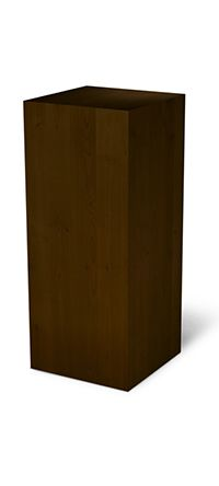 Dark Walnut Alder Wood Pedestal