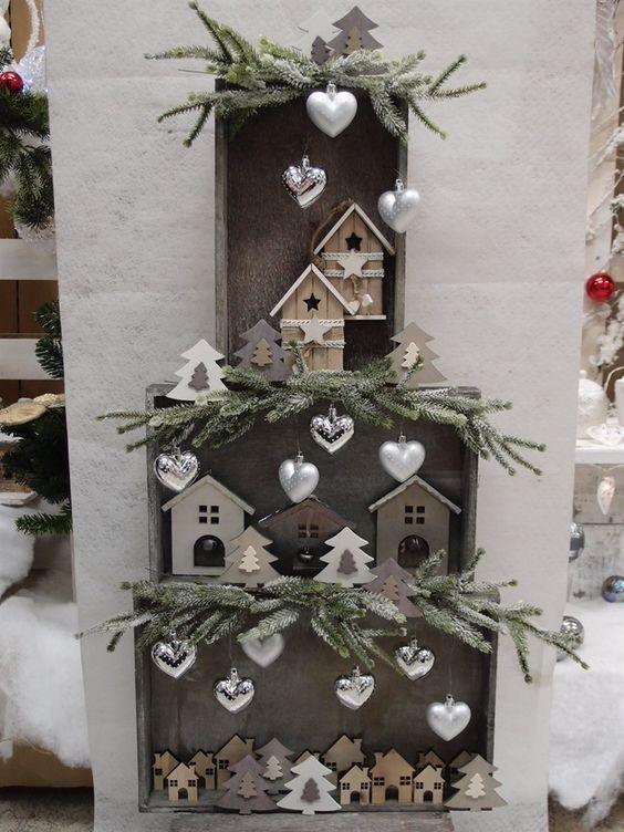 Decorazioni natalizie con cassette di legno! 15 idee per ispiravi…