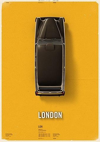 brilliant design: Citycab Posters, Picture-Black Posters, Mehmet Gözetlik, Graphicdesign, Art, Graphics Design, Fashion Blog, Cities Cab, London Cities