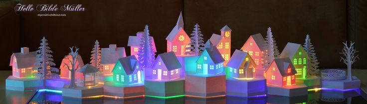 Tea Light Village lit from Marji Roy at #3dcuts